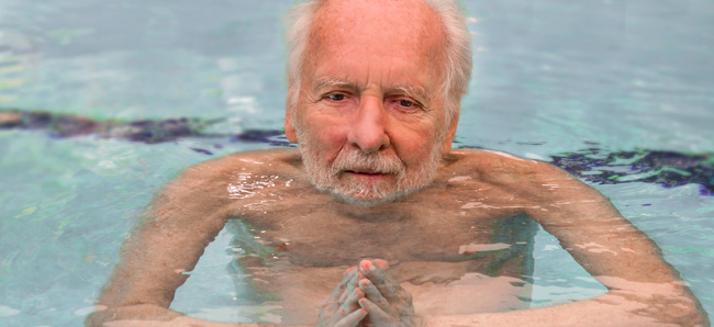 Watsu creator Harold Dull in the pool