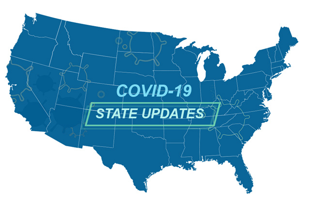 Map of United States with Info on COVID-19